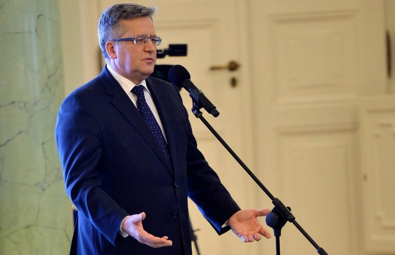 Bronisław Komorowski jeszcze nie potwierdził swojego startu w wyborach /Jacek Turczyk /PAP