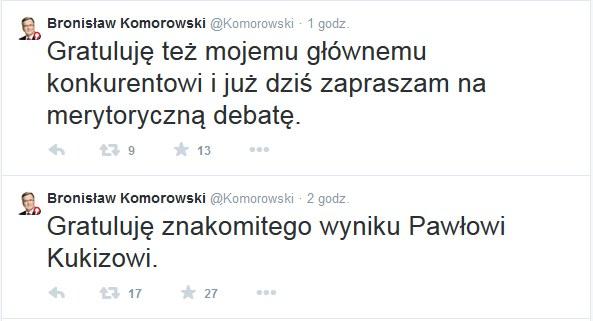 Bronisław Komorowski na Twitterze /