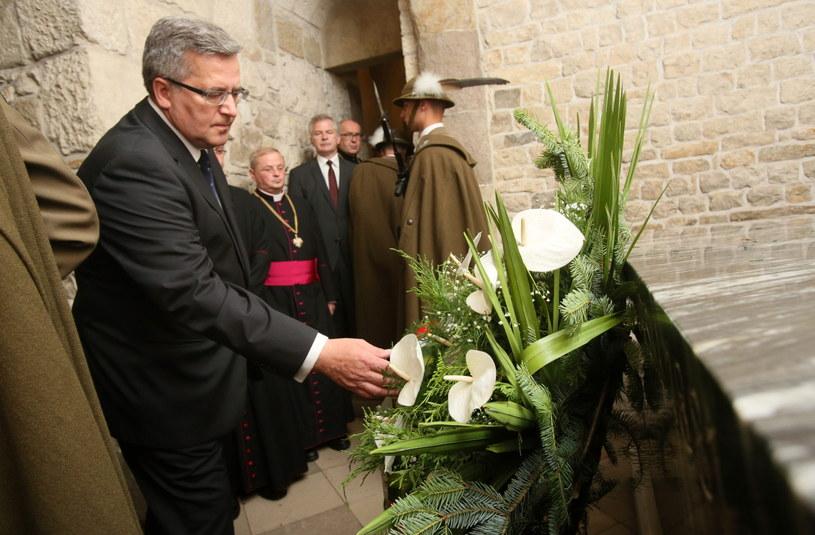 Bronisław Komorowski na Wawelu /Stanisław Rozpędzik /PAP