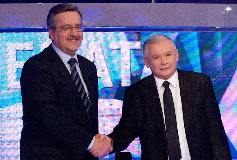 Bronisław Komorowski o Jarosławie Kaczyńskim: Poniósł sromotną klęskę i skompromitował się jako strateg polityczny /Marcin Łobaczewski /AFP