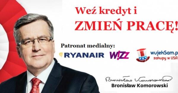 Bronisław Komorowski podpadł internautom /