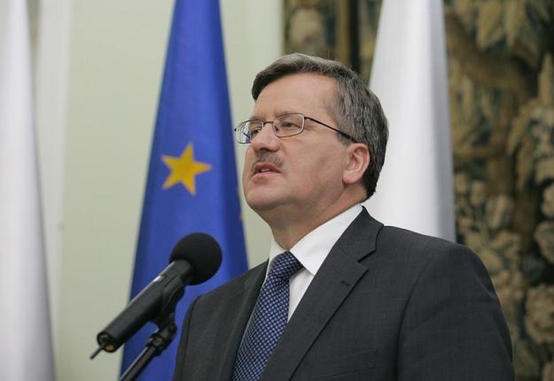 Bronislaw Komorowski, prezydent RP. Fot. PIOTR KOWALCZYK /Agencja SE/East News