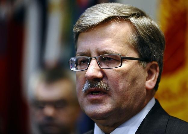 Bronisław Komorowski, prezydent RP /AFP
