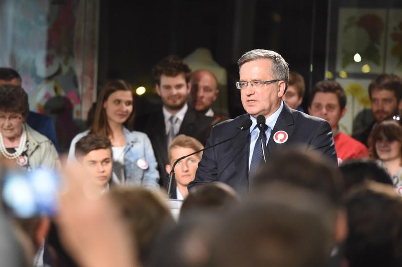 Bronisław Komorowski w Łodzi /Grzegorz Michałowski /PAP