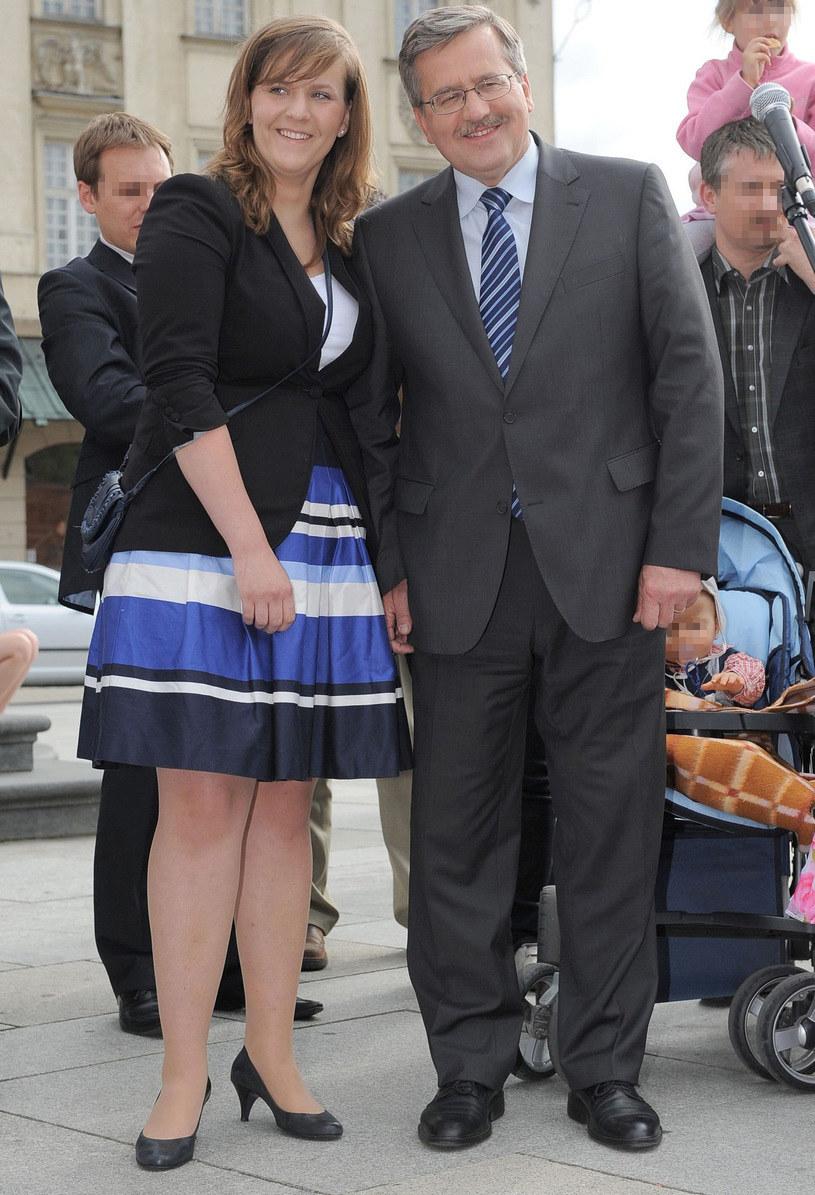 Bronisław Komorowski z córką Elą /Marcin Smulczyński /East News