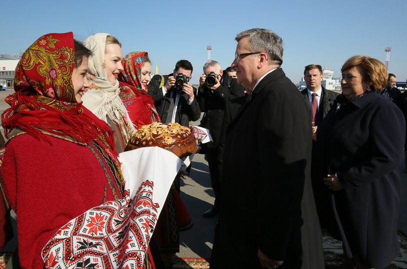 Bronisław Komorowski z małżonką Anną Komorowską /Paweł Supernak /PAP