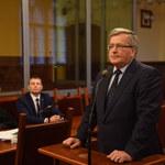 Bronisław Komorowski zeznawał w sądzie