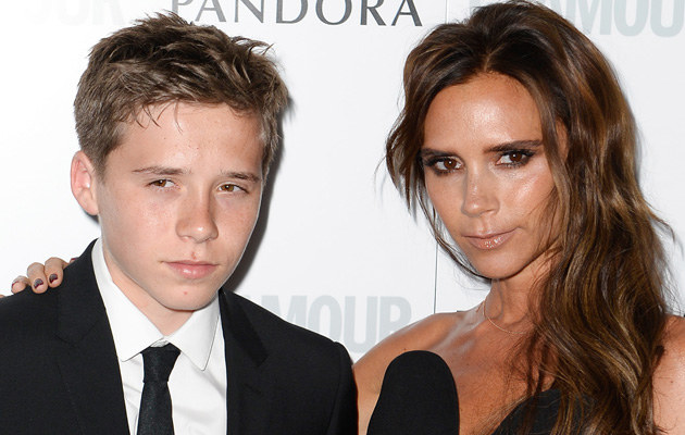 Brooklyn i Victoria Beckham /Gareth Cattermole /Getty Images