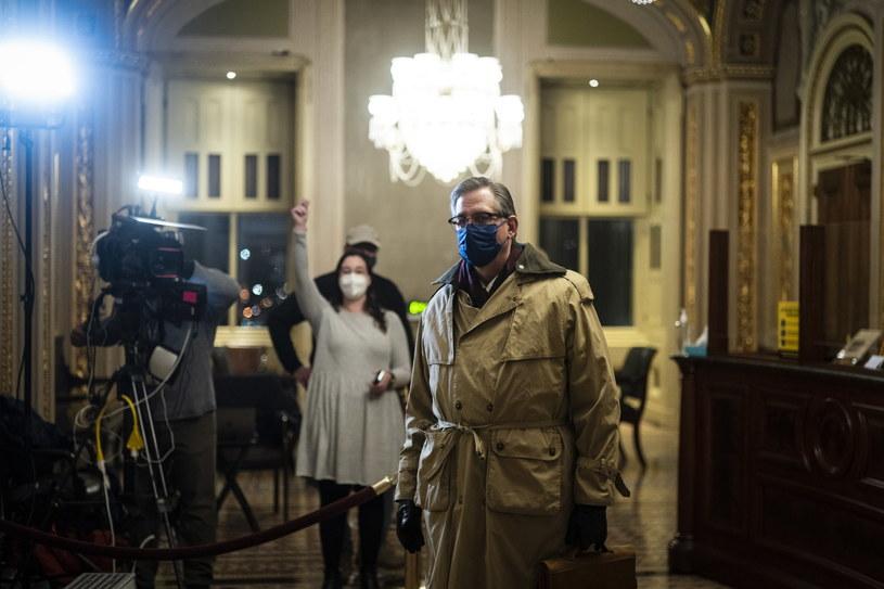 Bruce Castor, obrońca Donalda Trumpa w procesie impeachmentu /Jabin Botsford /PAP/EPA