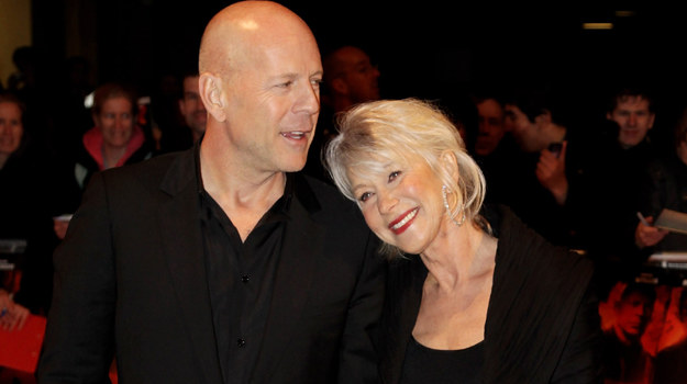 """Bruce Willis i Helen Mirren na premierze filmu """"Red"""" w Wielkiej Brytanii / fot. Chris Jackson /Getty Images/Flash Press Media"""