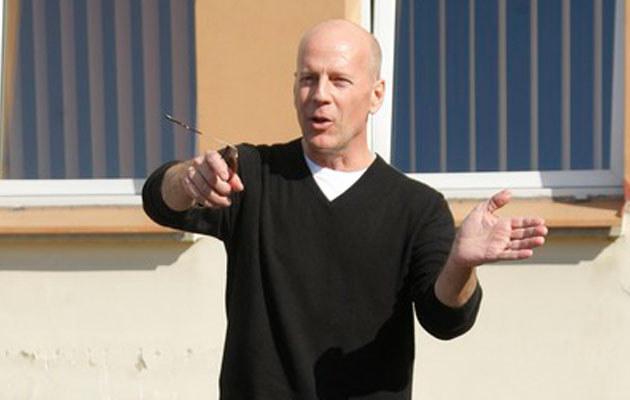 Bruce Willis w Starogardzie Gdańskim, fot. Andrzej Engelbrecht  /AKPA