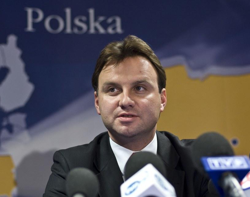 Bruksela 2007, Konferencja Podsekretarza Stanu w Ministerstwie Sprawiedliwości Andrzeja Dudy /Wiktor Dabkowski    /Reporter