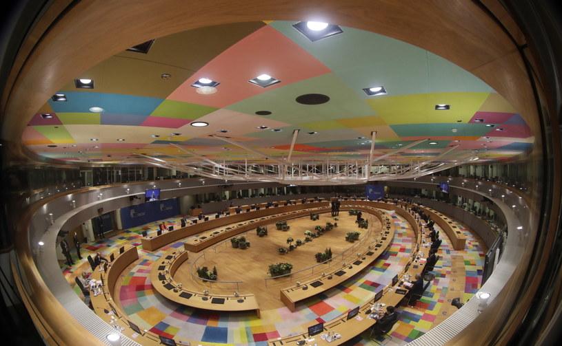 Bruksela: Sala, gdzie odbywały się negocjacje budżetowe /PAP/EPA