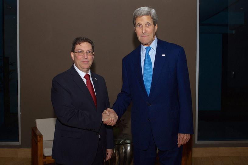 Bruno Rodriguez i John Kerry /PAP/EPA