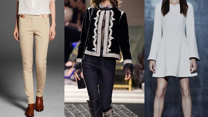 Bryczesy Massimo Dutti | żakiet H&M | sukienka La Mania /materiały prasowe