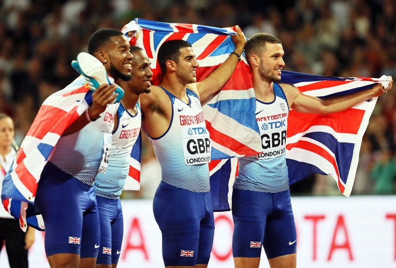 Brytyjczycy wygrali sztafetę mężczyzn 4x100 m /SRDJAN SUKI /PAP/EPA