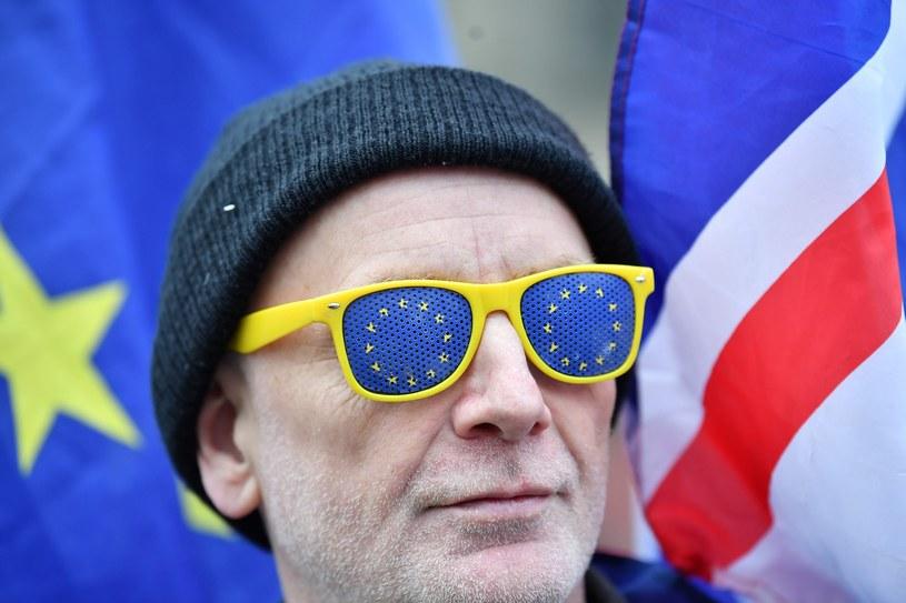 Brytyjczyk protestujący przeciw brexitowi /BEN STANSALL / AFP /East News