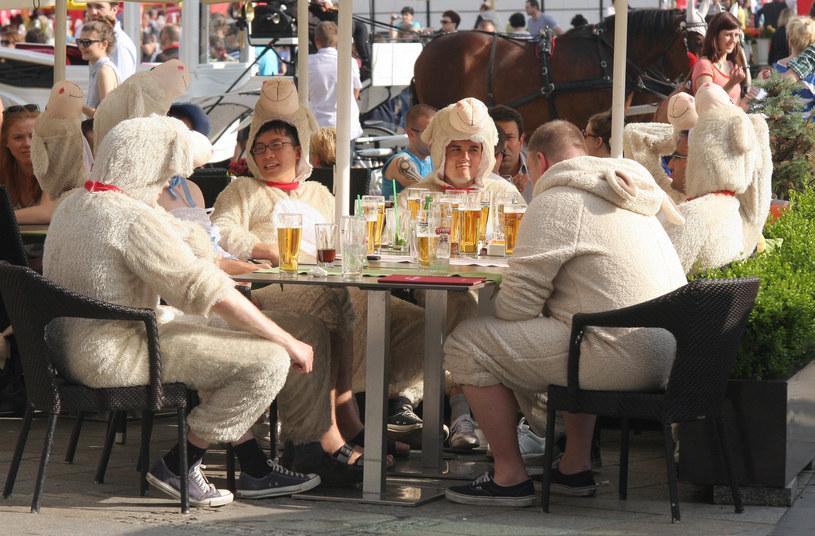 Brytyjscy turyści na krakowskim rynku (arch.) /Damian Klamka /East News