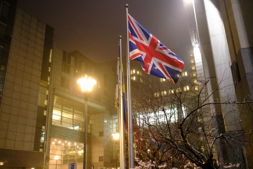 Brytyjska flaga przed siedzibą Parlamentu Europejskiego /Thierry Monasse /East News