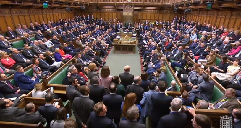 Brytyjska Izba Gmin odrzuciła projekt umowy wyjścia z UE /UK PARLIAMENTARY RECORDING UNIT / HANDOUT /PAP/EPA