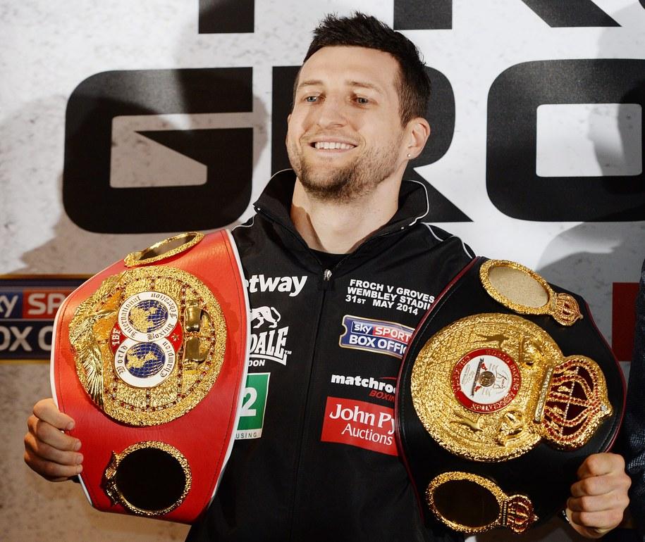 Brytyjski bokser Carl Froch /ANDY RAIN /PAP/EPA