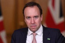 Brytyjski minister zdrowia Matt Hanckock podał się do dymisji