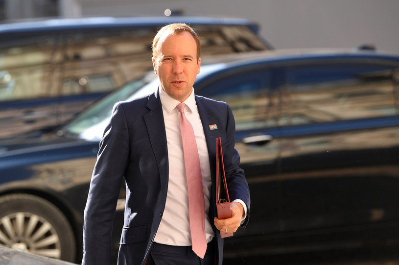 Brytyjski minister zdrowia Matt Hancock /Toby Melville /AFP
