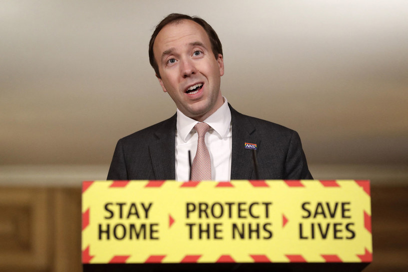 Brytyjski minister zdrowia Matt Hancock /Matt Dunham   /AFP