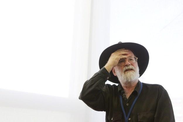 Brytyjski pisarz Terry Pratchett /Alessandro della Bella /PAP/EPA