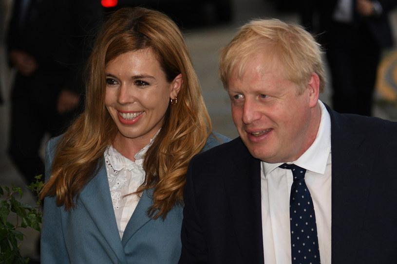 Brytyjski premier Boris Johnson i Carrie Symonds /AFP