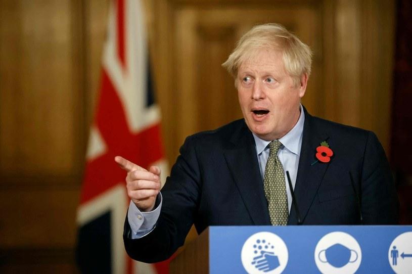 Brytyjski premier Boris Johnson jest prawdopodobnie pierwszy europejskim przywódcą, który rozmawiał Joe Bidenem po amerykańskich wyborach /Tolga AKMEN / AFP /AFP