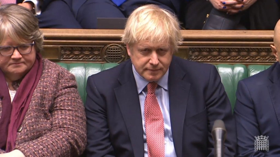 Brytyjski premier Boris Johnson /UK PARLIAMENTARY RECORDING UNIT/HANDOUT /PAP/EPA
