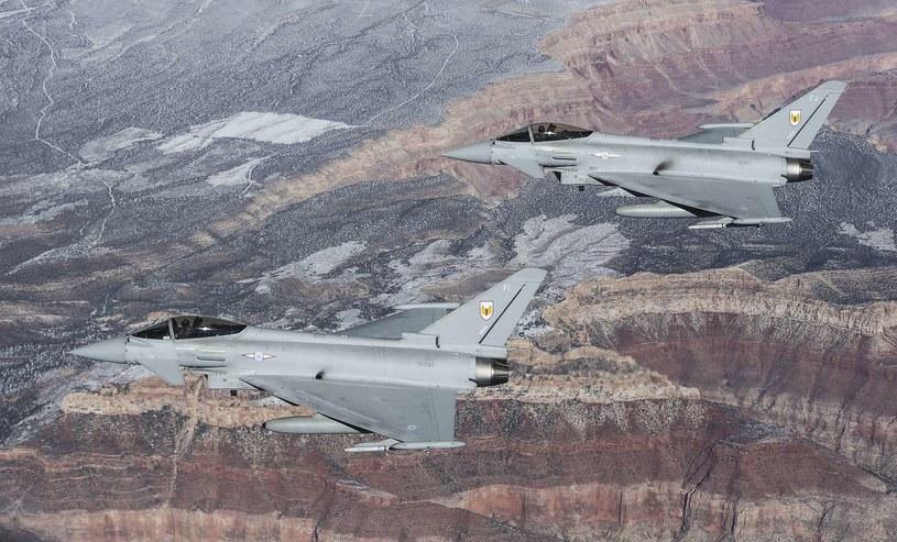 Brytyjskie myśliwce Typhoon /AFP