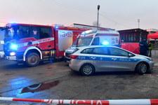 Brzeziny: Atak nożownika. Ofiara zmarła, policjant ranny