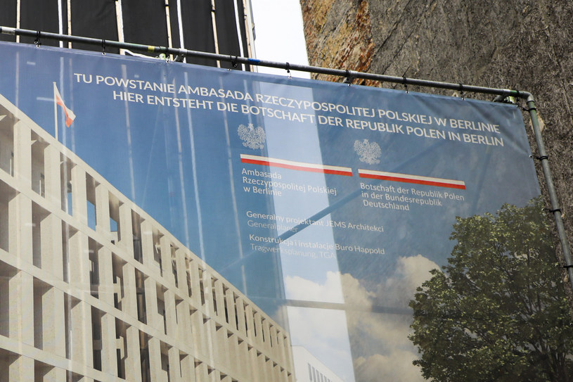 Budowa Ambasady RP w Berlinie /Beata Zawrzel /Reporter