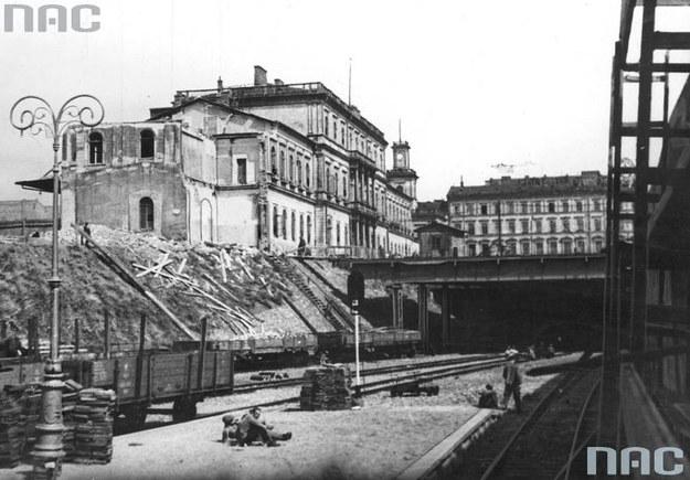 Budowa kolejowej linii średnicowej w Warszawie /Z archiwum Narodowego Archiwum Cyfrowego