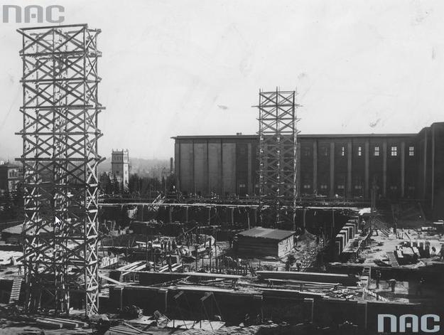 Budowa Muzeum Narodowego w Warszawie /Z archiwum Narodowego Archiwum Cyfrowego