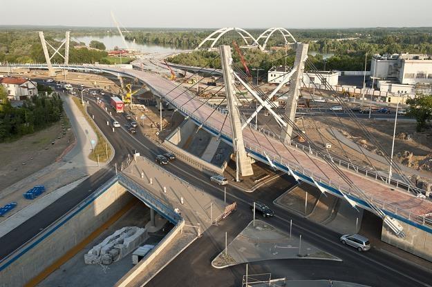 Budowa nowego mostu w Toruniu / Fot: Piotr Lampkowski /Reporter
