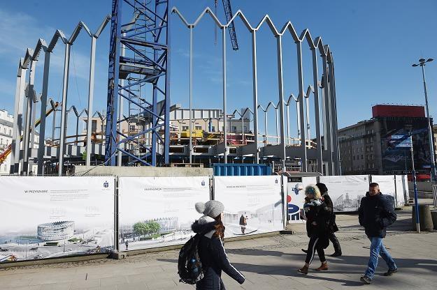 Budowa Nowej Rotundy w Warszawie /PAP