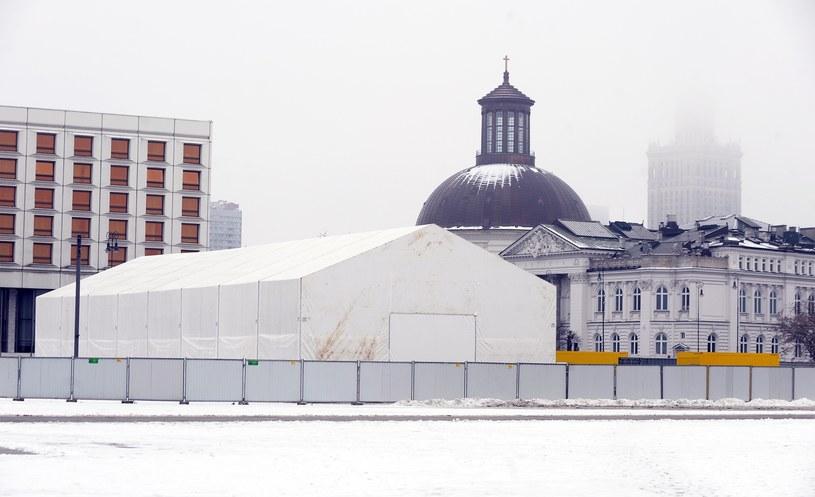 Budowa Pomnika Ofiar Katastrofy Smoleńskiej /Jan Bielecki /East News