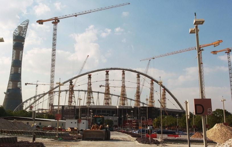 Budowa stadionu na mundial w Katarze /AFP