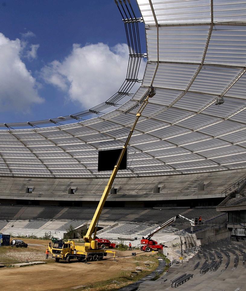 Budowa Stadionu Śląskiego /Andrzej Grygiel /PAP