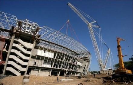 Budowa stadionu w Doniecku. Ukraińcy są o wiele przed nami. /Informacja prasowa