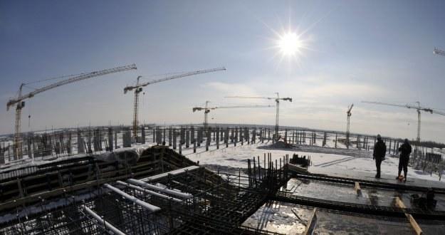 Budowa stadionu we Lwowie znowu została wstrzymana /AFP