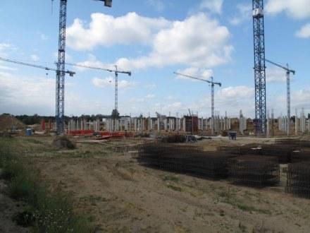 Budowa stadionu we Wrocławiu. /RMF