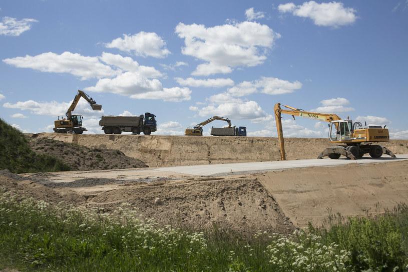 Budowa węzła drogowego Tyszki Nadbory na drodze S61 Via Baltica (czerwiec 2020 r.) /Marek Maliszewski  /Reporter
