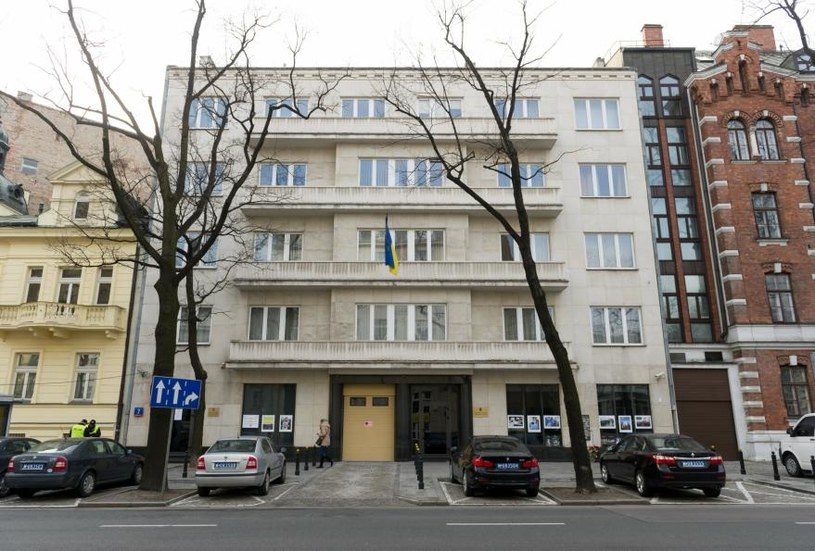 Budynek ambasady ukraińskiej w Warszawie /Bartosz Krupa /East News