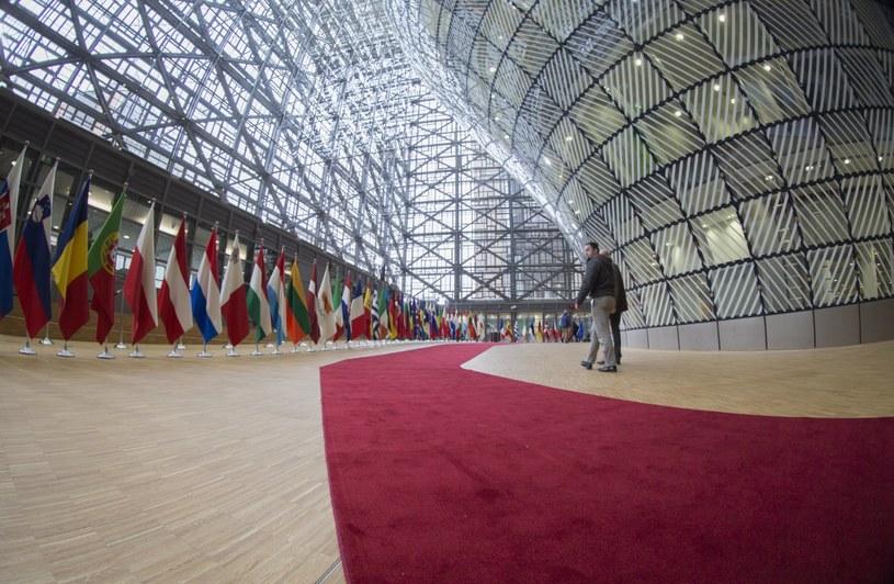 """Budynek """"Europa"""" przed rozpoczęciem szczytu /PAP/EPA"""