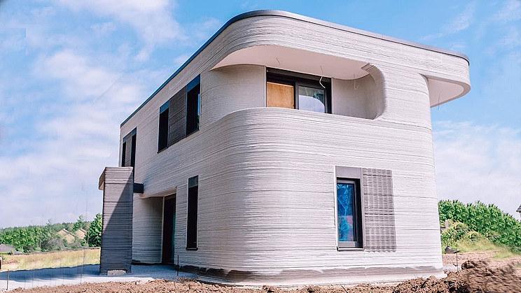 Budynek mieszkalny wytworzony w technologii druku 3D /materiały prasowe