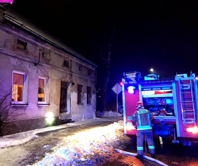 Budynek o mało się nie spalił /KPP Szczytno /Policja